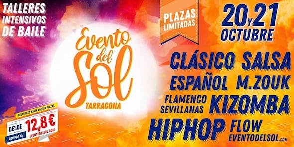 Evento del Sol - Intensive weekend in Tarragona - Salsa, Kizomba, Zouk, Flamenco and Sevillanas