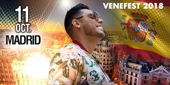 RONALD BORJAS en concierto en Madrid - Venefest - 11 de Octubre 2018