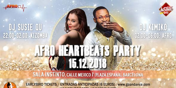 Afro Heartbeats Party 15.12.2018 - Sala Instinto, Barcelona