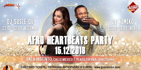 Fiesta Afro Heartbeats 15.12.2018 - Sala Instinto, Barcelona
