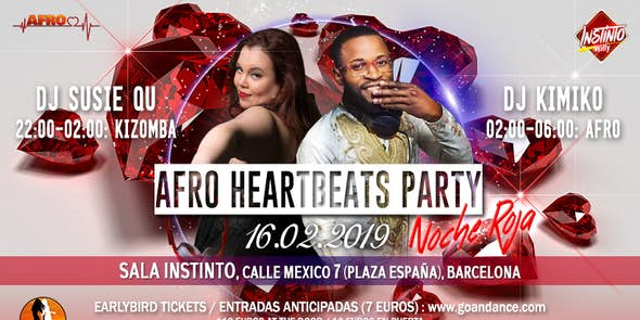 Afro Heartbeats Party 16.02.2019 - Red Night