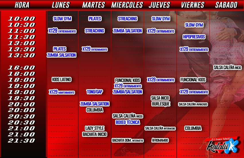 HORARIO CURSO 2018 - 2019
